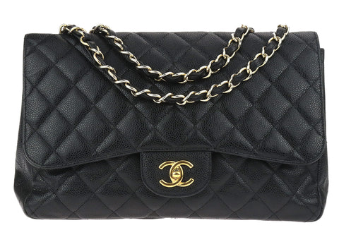 005466d8bd871c Buy chanel black lambskin from Designer Vault | Chanel Consignment ...