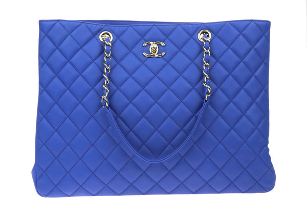 Chanel Bleu Roi Lambskin Quilted Timeless Tote