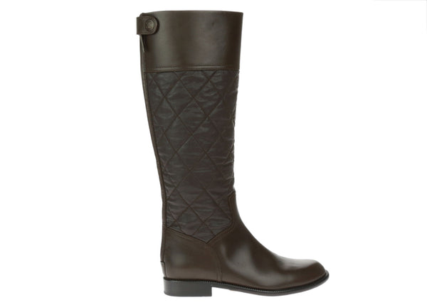Chanel Brown Quilted Lambskin Back Zipper Cowboy Boots