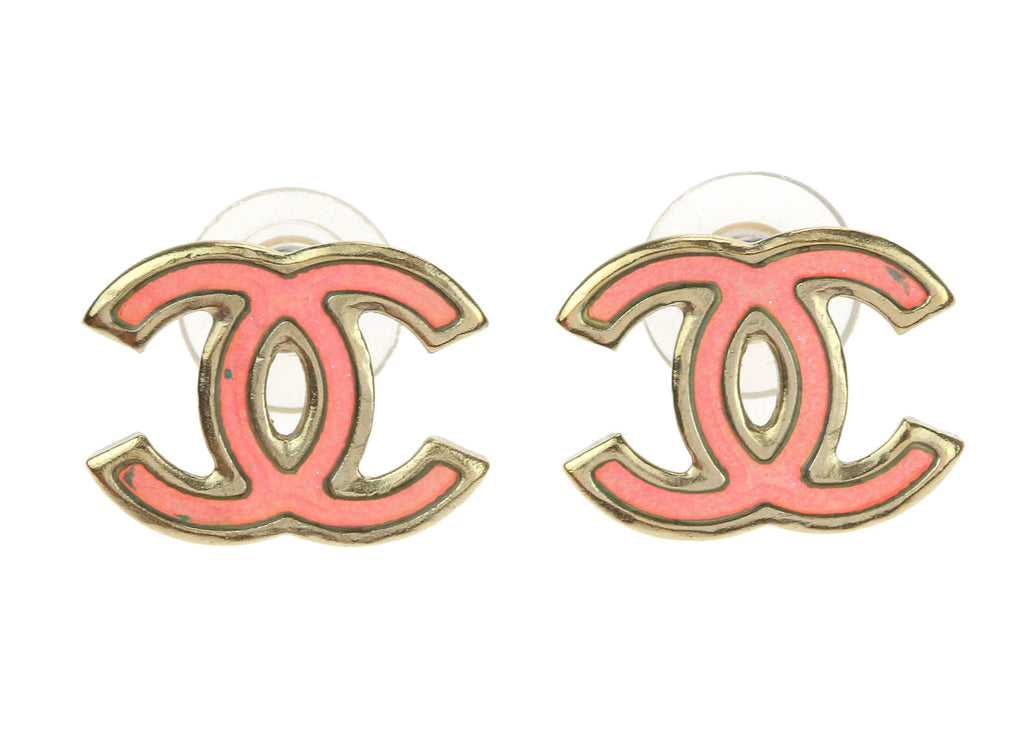 Chanel Cc Logo Iridescent Holographic Earrings Chanel Consignment