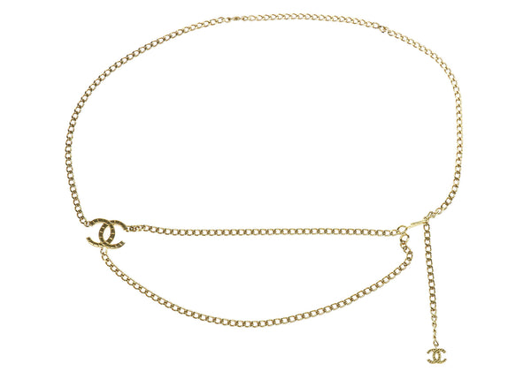 Chanel Vintage Gold Curb Chain CC Logo Belt