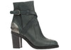 Chanel Grey Lambskin Metal Plate Heel Cap Toe Booties