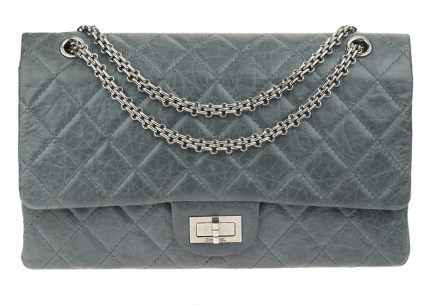 Chanel Grey Quilted 50th Anniversary 2.55 Reissue Double Flap Bag