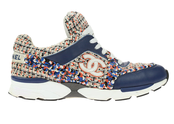 Chanel 13S Multi-Color Tweed Sneakers