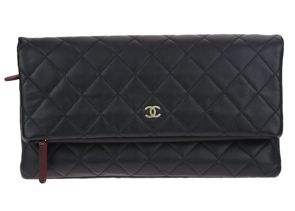 Chanel Natural Beauty Foldable Quilted CC Clutch Bag