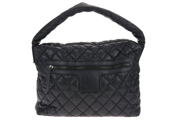 Chanel Quilted Nylon Coco Cocoon Hobo Bag