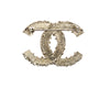 Chanel 13C Gold Baroque CC Logo Brooch