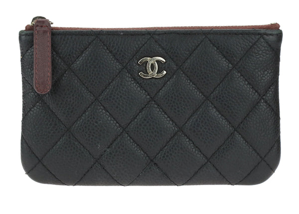 Chanel Black Caviar Mini O-Case