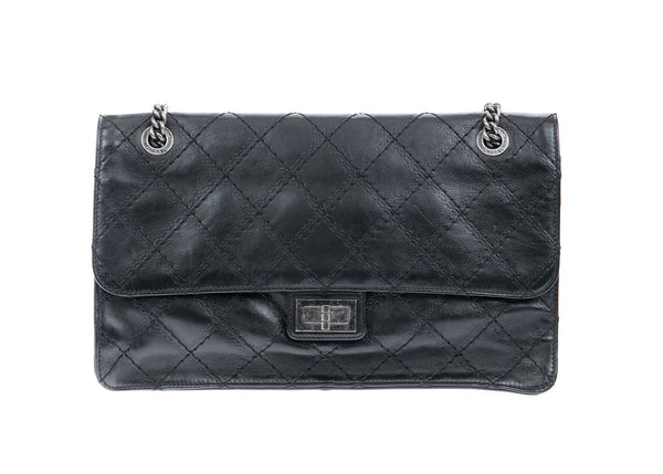 Chanel Black Crave CC Reissue Crown Jumbo Calfskin Flap Bag