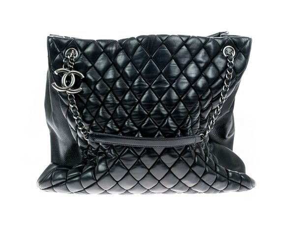 Chanel Black Iridescent Bubble Tote Bag