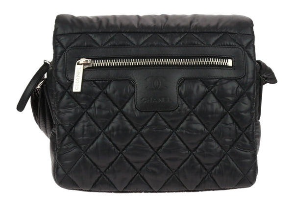Chanel Black Nylon Cocoon Messenger Small Bag