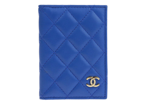 Chanel Blue Lambskin ID Card Holder