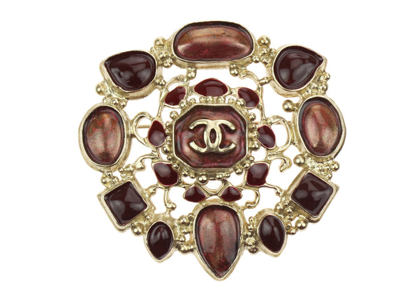Chanel B12 A CC Brooch