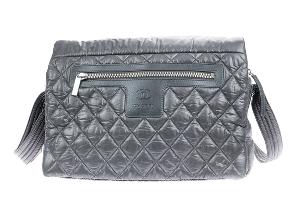 Chanel Grey Nylon Cocoon Messenger Bag
