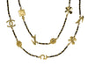 Chanel Leather Gold Charms Motif Necklace - Designer Vault - 1