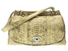 Chanel Python and Cotton Mixed Flap Shoulder Bag - Designer Vault - 1
