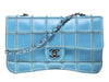 Chanel Vintage Reverse Stitched Blue Leather Flap - Designer Vault - 1