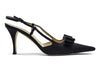 Chanel Black Satin Evening Heels - Designer Vault