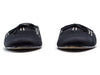 Chanel Striped Satin Mule Slides - Designer Vault - 2