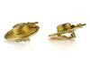 Chanel Vintage Gold Hat  Earrings - Designer Vault - 3