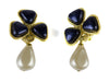 Chanel Vintage Pearl Dangle Earrings - Designer Vault - 1