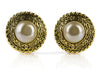 Chanel Vintage Gold Pearl Clip On Earrings - Designer Vault - 1