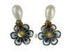 Chanel Vintage Floral Pearl Drop Earrings - Designer Vault - 2