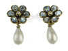 Chanel Vintage Floral Pearl Drop Earrings - Designer Vault - 1