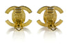 Chanel Gold Interlocking CC Earrings - Designer Vault