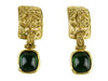 Chanel 94A Vintage Green Glass Earrings - Designer Vault