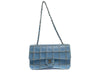 Chanel Vintage Reverse Stitched Blue Leather Flap - Designer Vault - 3