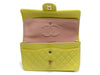 Chanel Vintage Yellow Lambskin Double Flap - Designer Vault - 4