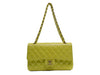 Chanel Vintage Yellow Lambskin Double Flap - Designer Vault - 5