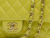 Chanel Vintage Yellow Lambskin Double Flap - Designer Vault - 6