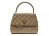 Chanel Brown Caviar Kelly Tote - Designer Vault
