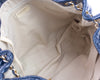 Chanel Navy Blue Crackled Patent Leather Puzzle Tote Bag - Designer Vault - 5