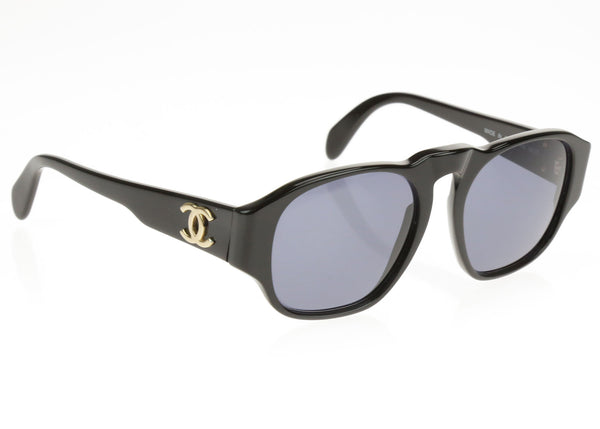 Chanel Vintage Black 01452 Sunglasses