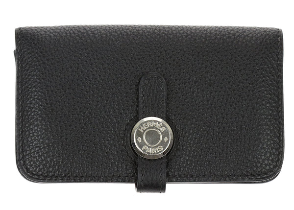 Hermès Black Togo Dogon Key Pouch Card Case