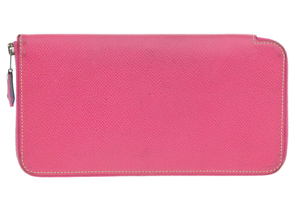 Hermes Rose Tyrien Epsom Silk-In Wallet