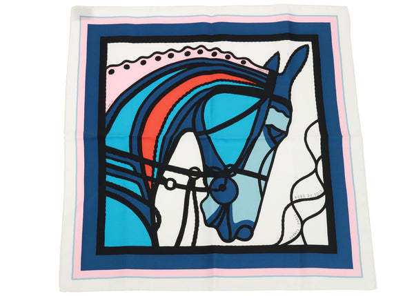 Hermes Robe du Soir POP 45 Silk Twill Pocket Square Scarf By Florence Manlik