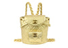 Chanel Vintage Lambskin Metallic Gold Backpack - Designer Vault - 1