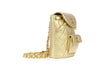 Chanel Vintage Lambskin Metallic Gold Backpack - Designer Vault - 2