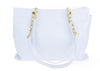 Chanel Vintage White Caviar Leather Weekend Tote Bag - Designer Vault - 3