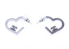 Chanel CC Logo Heart Earrings - Designer Vault