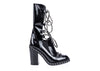 Chanel Runway Patent Leather Chain Boots - Designer Vault - 1