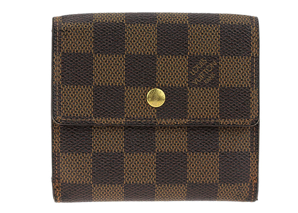 Louis Vuitton Brown Damier Ebene Elise Wallet