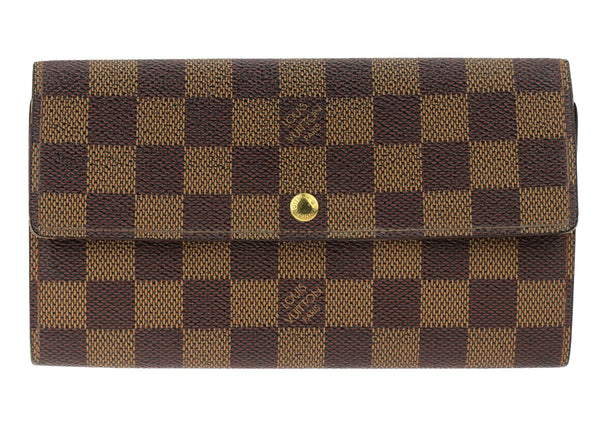 Louis Vuitton Brown Damier Ebene  Canvas Wallet