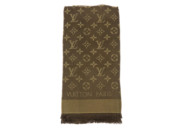 Louis Vuitton Monogram Shine Fringe Shawl