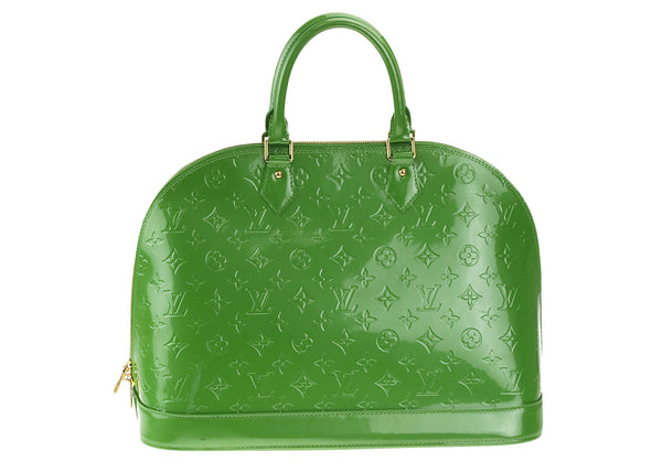 Louis Vuitton Vert Tonic Monogram Vernis Alma GM Bag