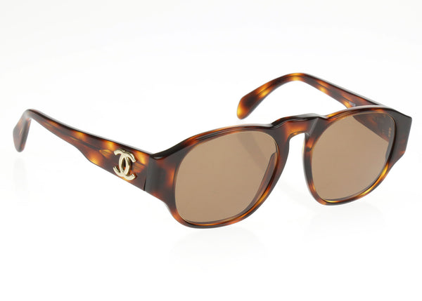 Chanel Vintage Brown 014152 91235 CC Logo Sunglasses